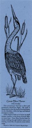 Great Blue Heron Bookmark
