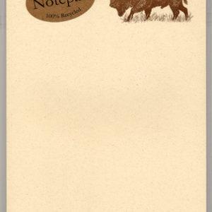 Bison Notepad