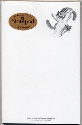 Chipmunks Notepad