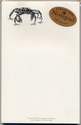 Ghost Crab Notepad