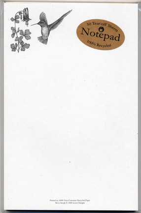 Hummingbird Notepad
