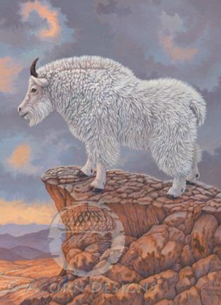 Mountain Goat Notecard