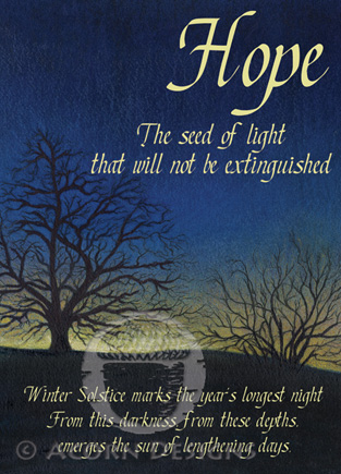 Solstice Hope Notecard