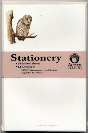 Barred Owl Stationery