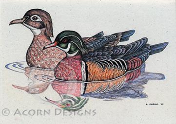 Wood Ducks Notecard