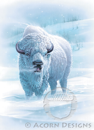 Snow Buffalo Notecard