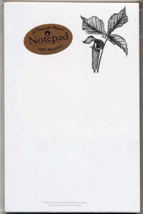 Jack-in-the-Pulpit Notepad