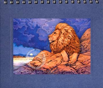 African Lion Notecard