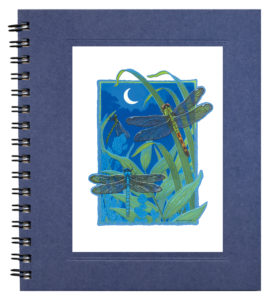 Dragonflies by Moonlight Notecard