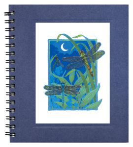 Dragonflies by Moonlight Notecard