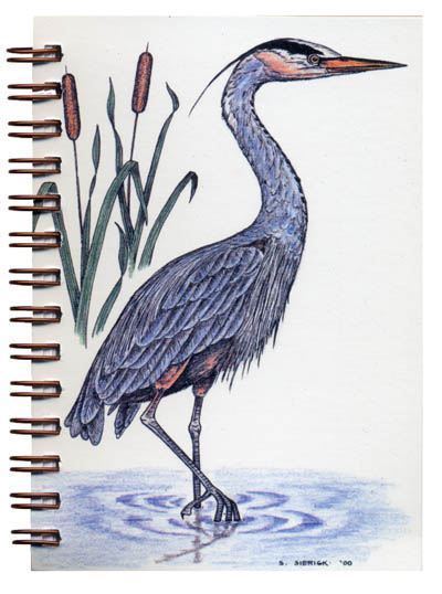 Cover image - Great Blue Heron Mini Journal