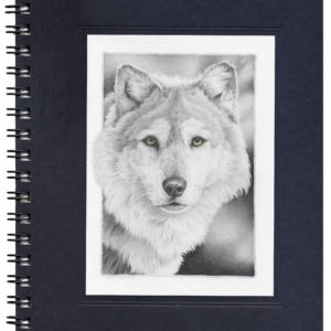 Timber Wolf Notecard