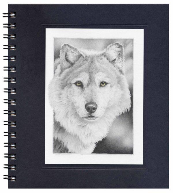 Timber Wolf Notecard